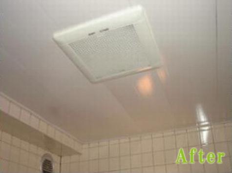 浴室天井施工後