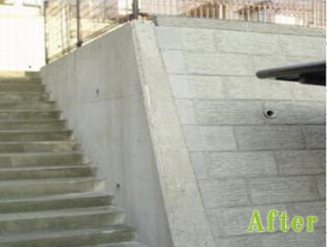 外壁、階段施工後